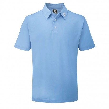 POLO FOOTJOY STRETCH PIQUE SOLID AZUL CLARO