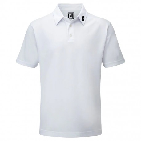 POLO FOOTJOY STRETCH PIQUE SOLID BLANCO