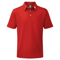 POLO FOOTJOY STRETCH PIQUE SOLID ROJO